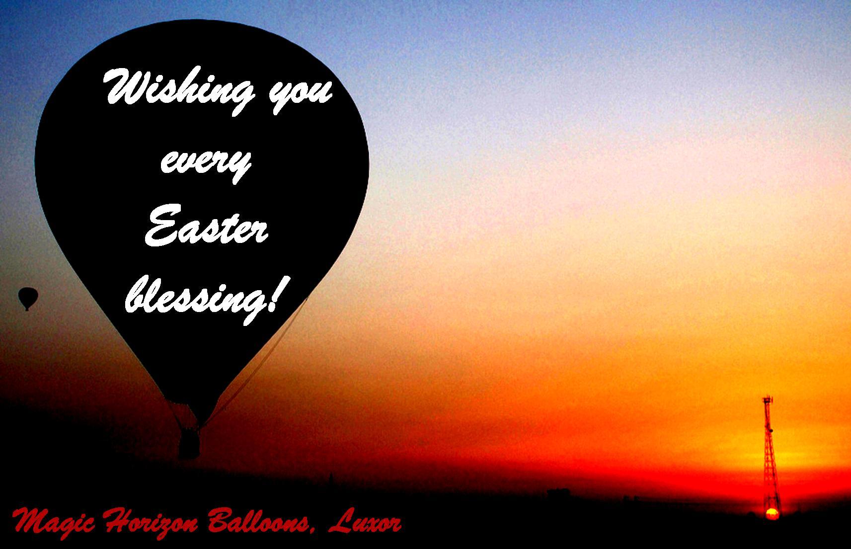 Easter hot-air balloons
