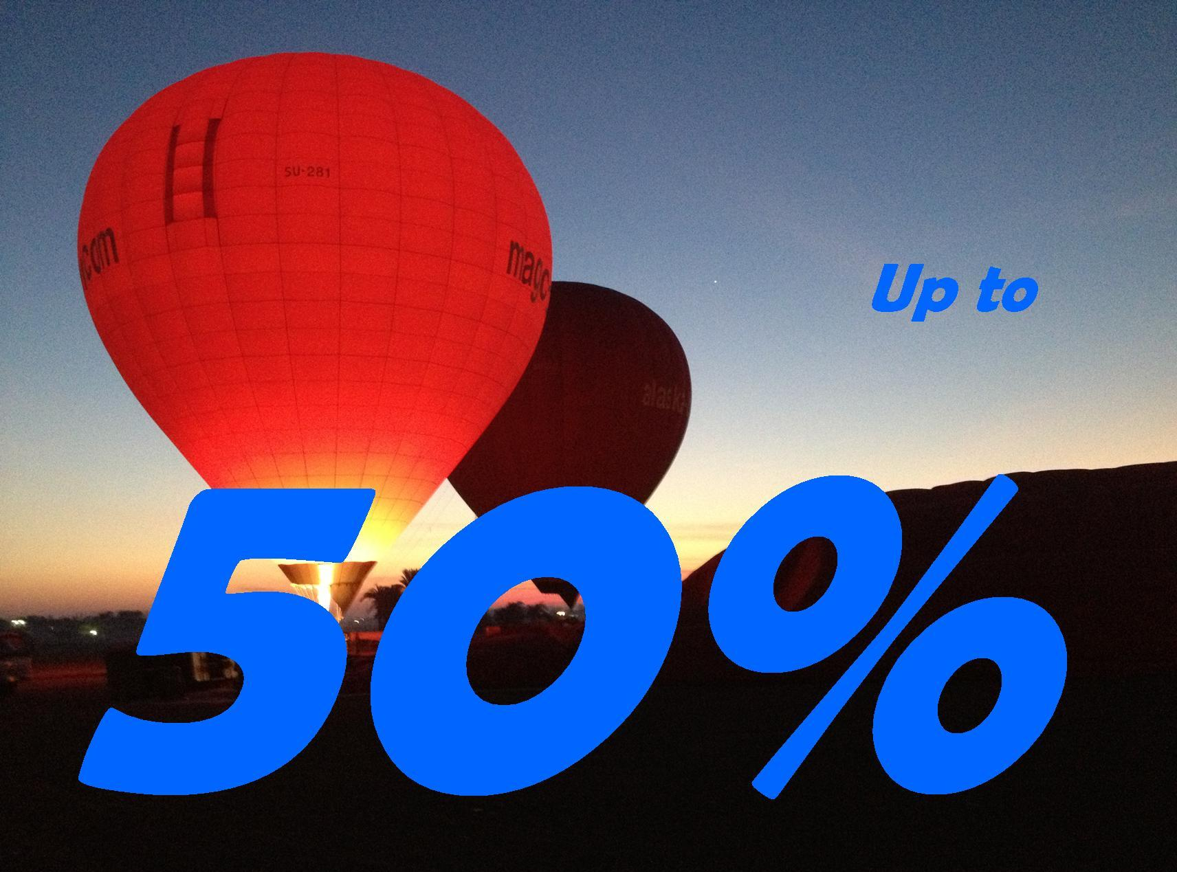 special offer magic hot-air balloon egypt